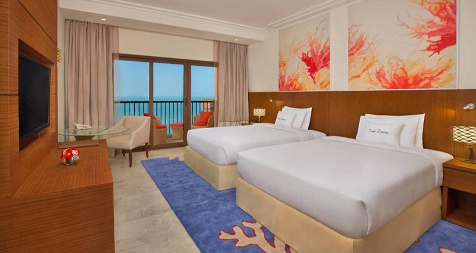 DoubleTree by Hilton Resort & Spa Marjan Island - Rixos The Palm Dubai Hotel and Suites 18 - Ras al Khaimah: <p>Guest-huone</p>